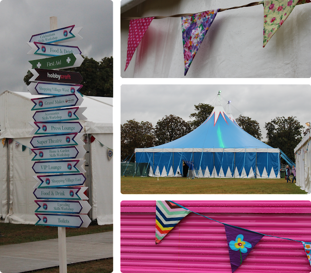 The Handmade Fair - signposts and bunting