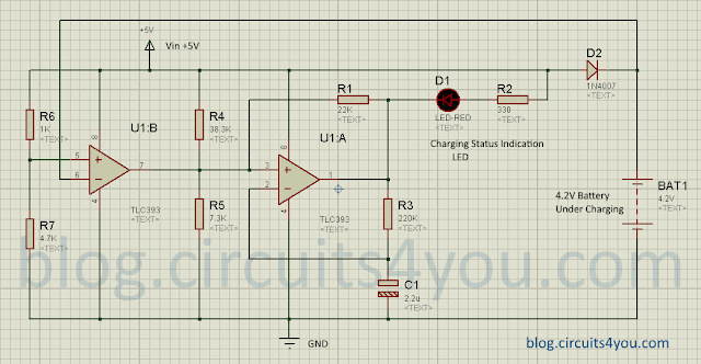 Li-Ion Battery charger circuit diagram