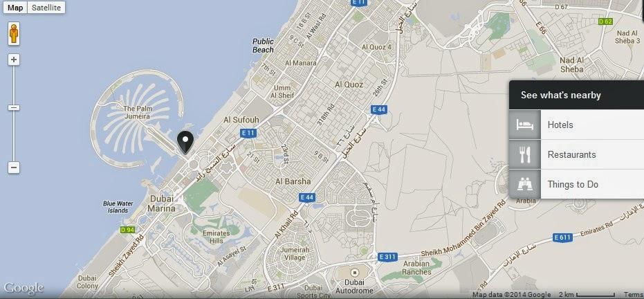 UAE Dubai Metro City Streets Hotels Airport Travel Map Info: Dreamworks Spa Dubai Location Map