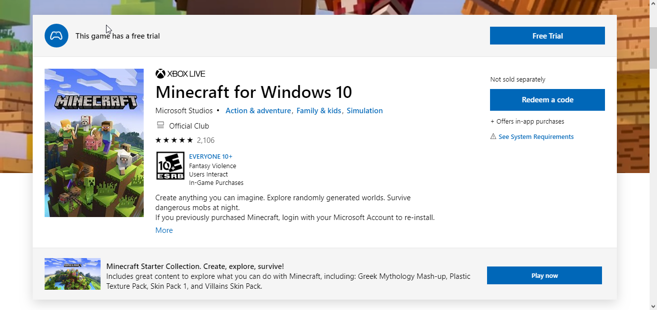 Berapa Ukuran Game Minecraft di Windows 10