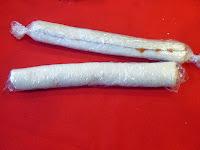 Formando los rollitos.
