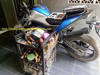 Cara pasang alarm motor remote pada Yamaha Xabre