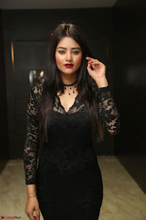 Actress Monica in spicy transparent Black Top at O Pilla Nee Valla Movie Audio Launch Feb 2017 030.JPG