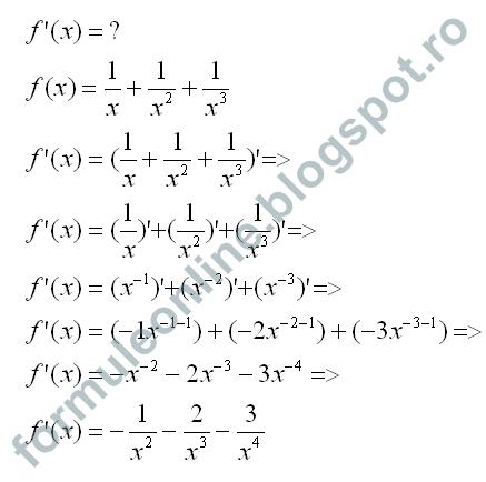 functii derivate
