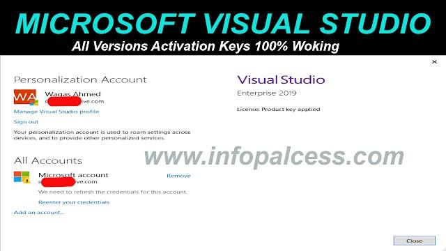 Microsoft Visual Studio All Version Activation Keys 100% Working