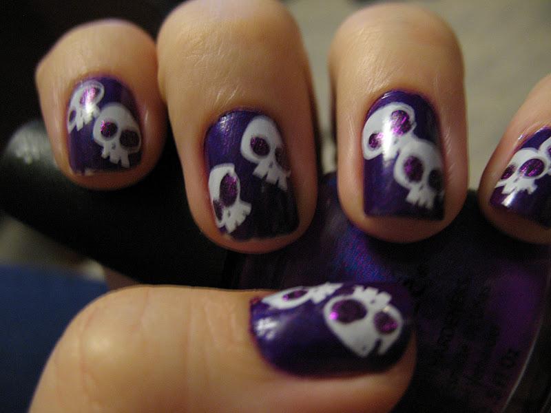 Moondancerjen's Nails: Halloween Week: Purple Sparkly ...