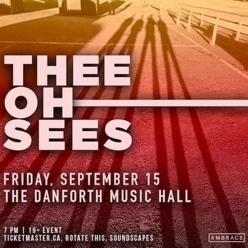 The Oh Sees @ Danforth Music Hall, Sept 15