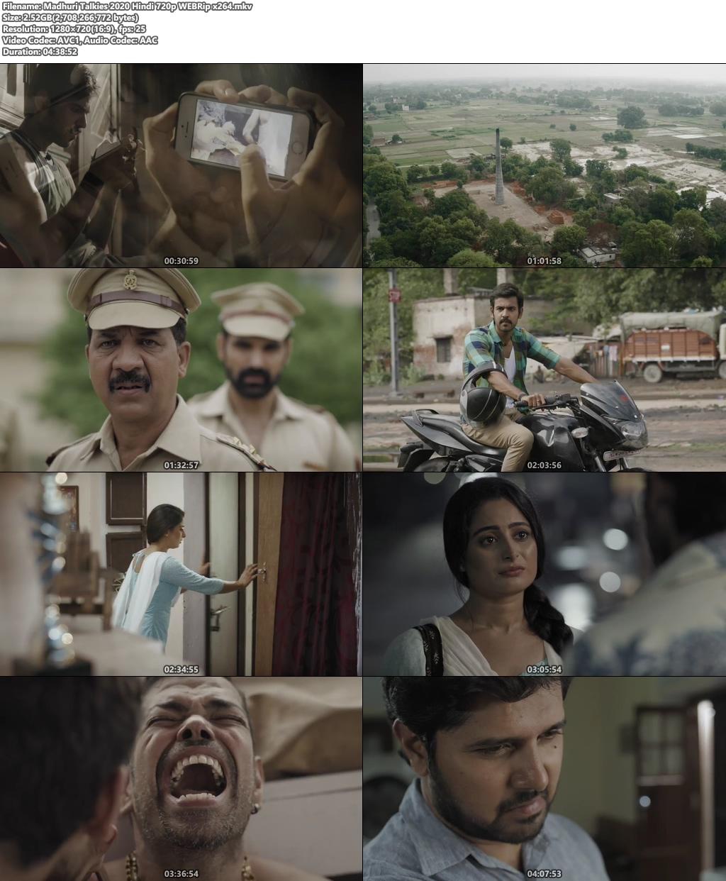 Madhuri Talkies 2020 Hindi 720p WEBRip x264 | 480p 300MB | 100MB HEVC Screenshot