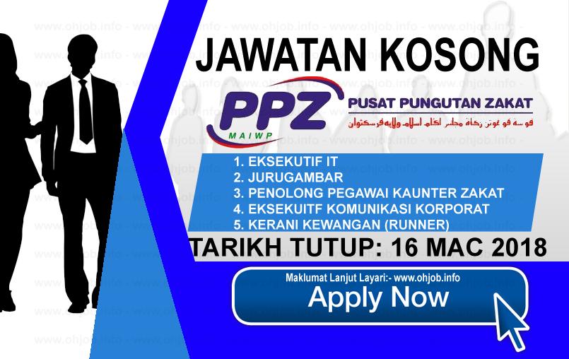 Jawatan Kerja Kosong PPZ - Pusat Pungutan Zakat MAIWP logo www.ohjob.info mac 2018