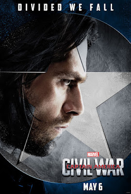 "Captain America: Civil War ""Team Cap"" Character Movie Poster Set - Sebastian Stan as Winter Soldier"