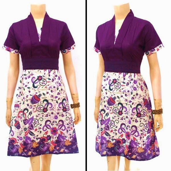 Model Baju Batik Modern Dress: Model Baju Batik Dress Terbaru 2015