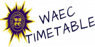 WAEC GCE: 2018 Examination timetable is out