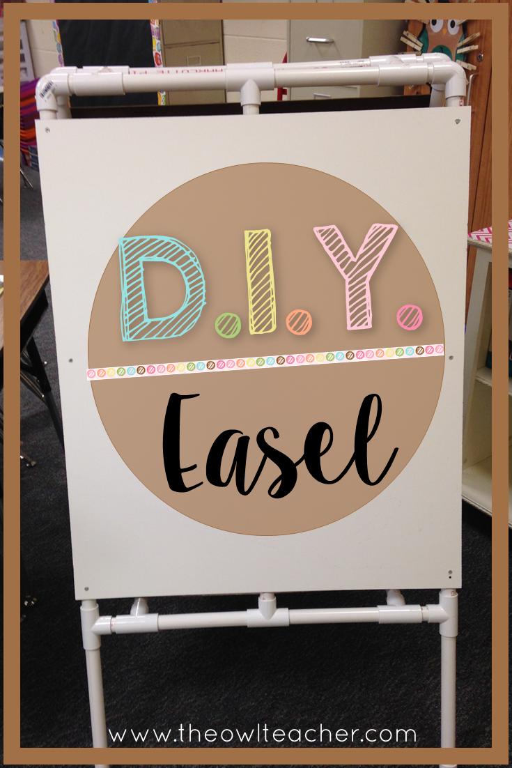 DIY Easel for Your Classroom - The Owl Teacher on Easel Decorating Ideas  id=34705