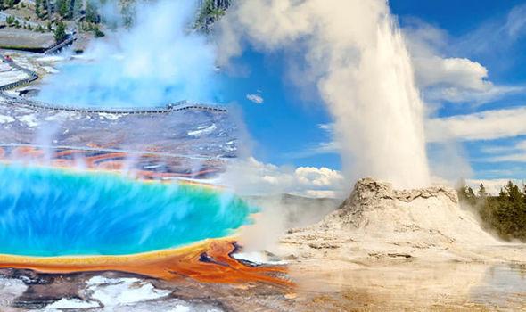 ( VIDEO ) geyser mas grande de yellowstone entro en erupcion otra vez.