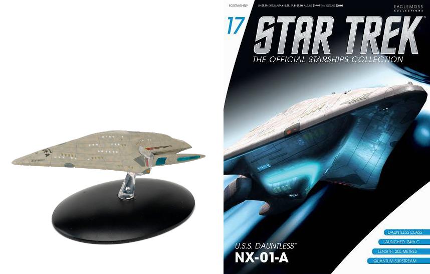 trek star uss dauntless official collection eaglemoss nx starship magazine starships comic figure collective publication