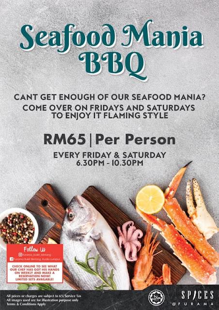 SPICES FURAMA BUKIT BINTANG WEEKEND BBQ SEAFOOD BUFFET Promotion Banner