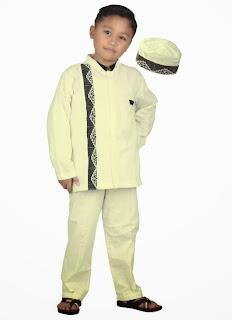 Baju Koko Untuk Anak Laki-laki Warna Putih Simple