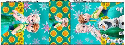 Etiqueta Tic Tac para imprimir gratis de Frozen Fiebre Congelada