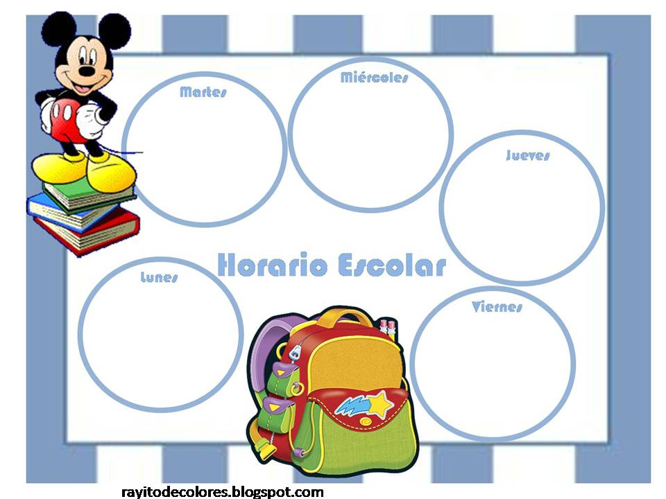 Horario escolar de Mickey Mouse