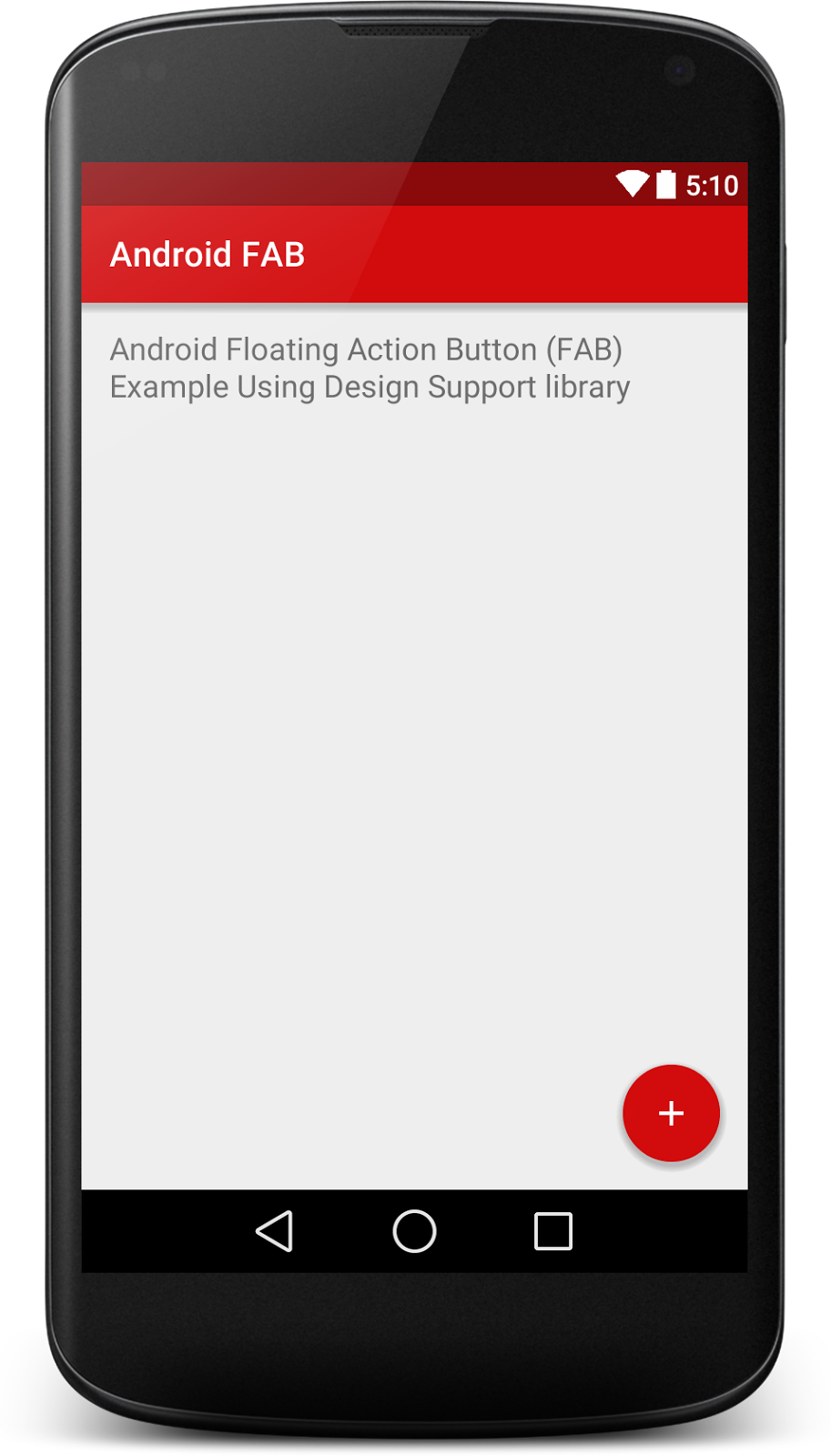 Floating Action Button (FAB) Using Android Design Support Library