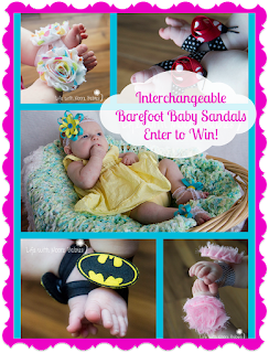 Interchangeable Barefoot Baby Sandal Giveaway from Moore Babies Boutique