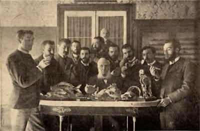 Graells con sus discípulos, a finales del siglo XIX.