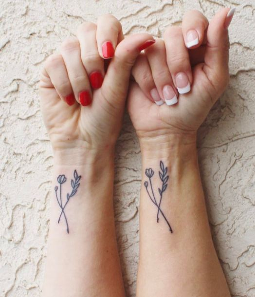 Cute Mother Daughter Affectionate Tattoos: 50 Meaningful Mother Daughter Tattoos Ideas (2017