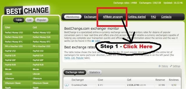 BestChange exchanger monitor to find the best currency exchange rates you can join to the Legit affiliate program to earn get free money and bitcoin