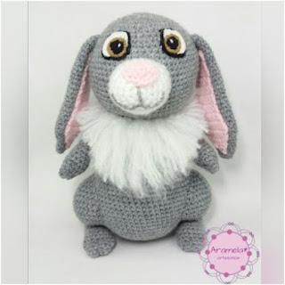 patron amigurumi Clover el conejo aramela artesanias