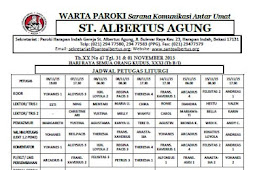 Warta Paroki XX No 45 Tgl 31 October & 1 November 2015