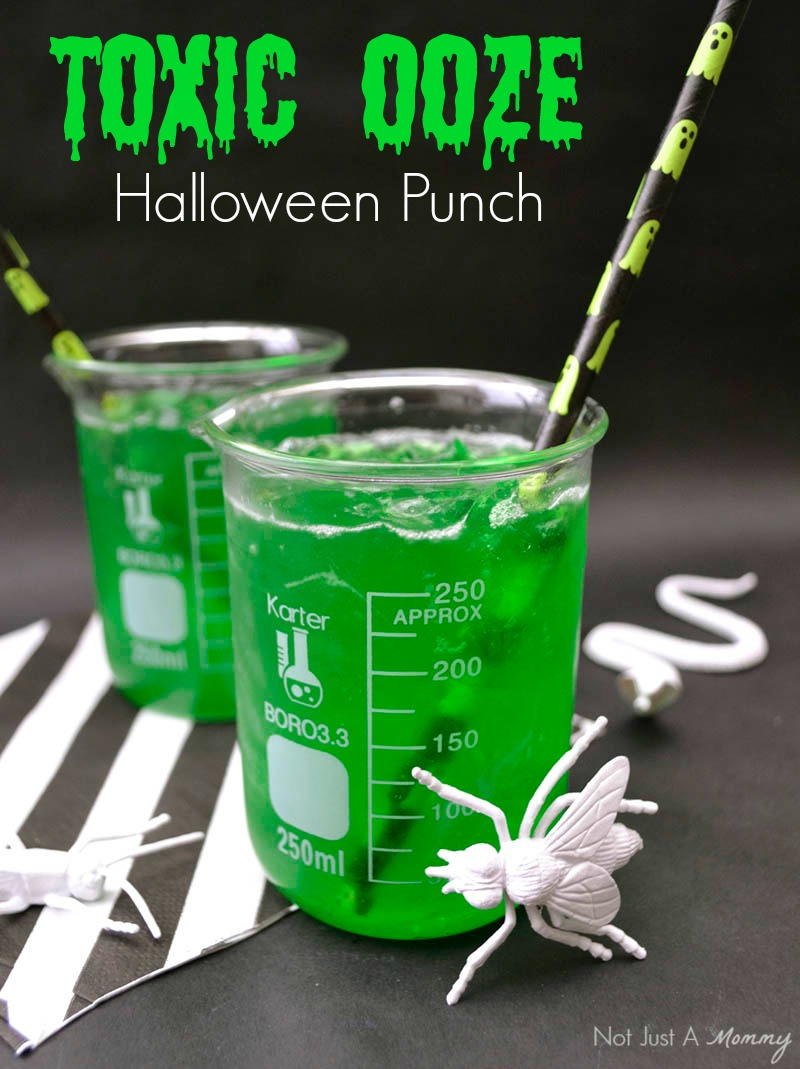 Toxic Ooze, a perfectly icky Halloween Punch