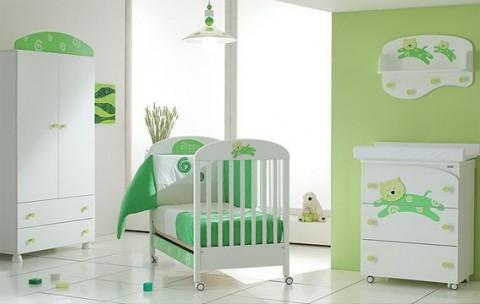 Cuarto de beb con paredes verdes dormitorios colores y - Camera da letto verde acqua ...
