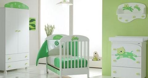 Cuarto de beb con paredes verdes  Ideas para decorar