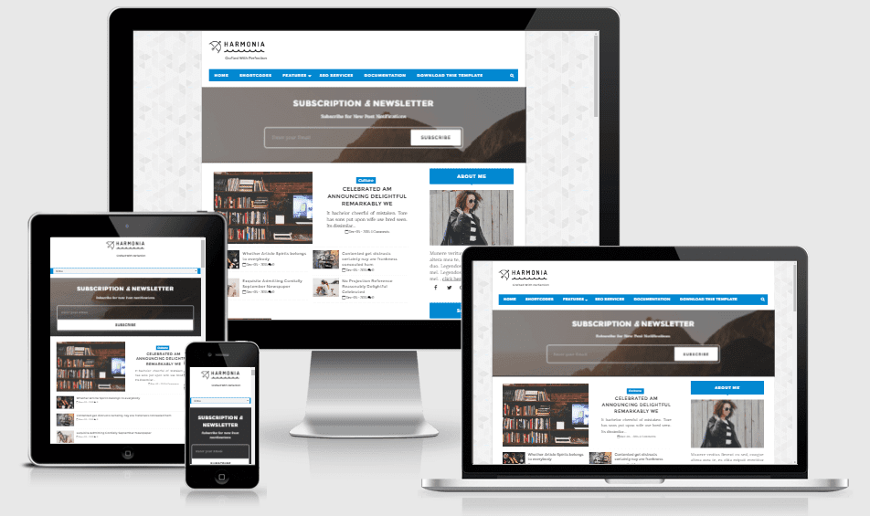 Harmonia - Responsive Simple and Clean Blogger Template