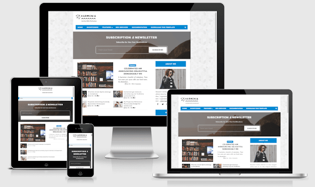 Harmonia Responsive Simple and Clean Blogger Template Free Download