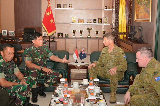 Pangdivif 2 Kostrad Terima Kunjungan Delegasi Royal Australian Army