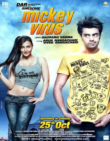 Poster Of Mickey Virus 2013 Hindi 150MB DVDRip ESubs HEVC Mobile Watch Online Free Download Worldfree4u