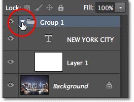 Mở rộng/thu gọn Group Layer