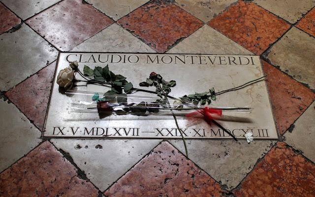 Plaque to Claudio Monteverdi, Santa Maria Gloriosa dei Frari, Venice