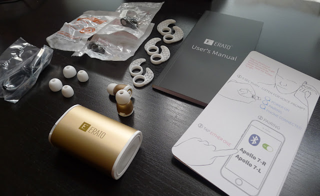 Erato Apollo 7 true wireless earbuds packaging