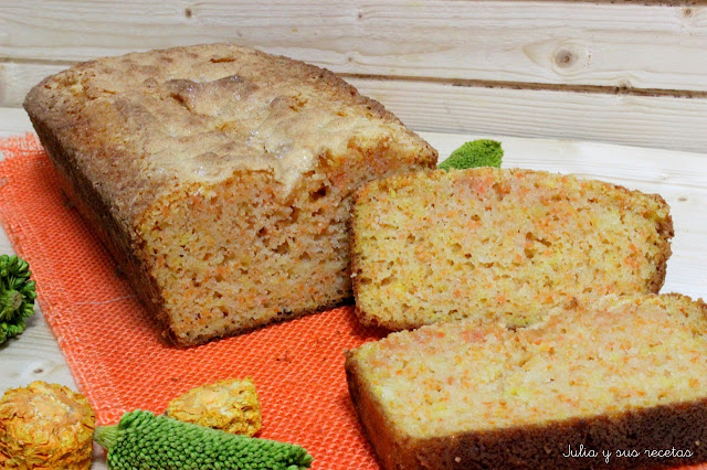 Bizcocho de zanahoria y limón sin gluten. Julia y sus recetas