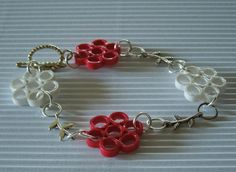 Rose flower model quilling handmade bracelet designs for girls - quillingpaperdesigns