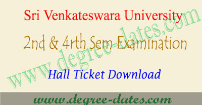 SVU degree 2nd sem & 4rth semester hall tickets 2017 download
