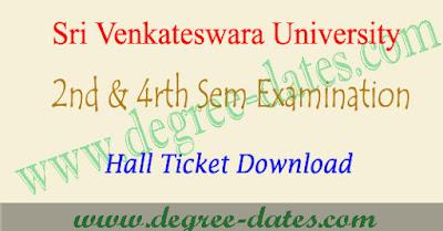 SVU degree 2nd sem & 4rth semester hall tickets 2017 download