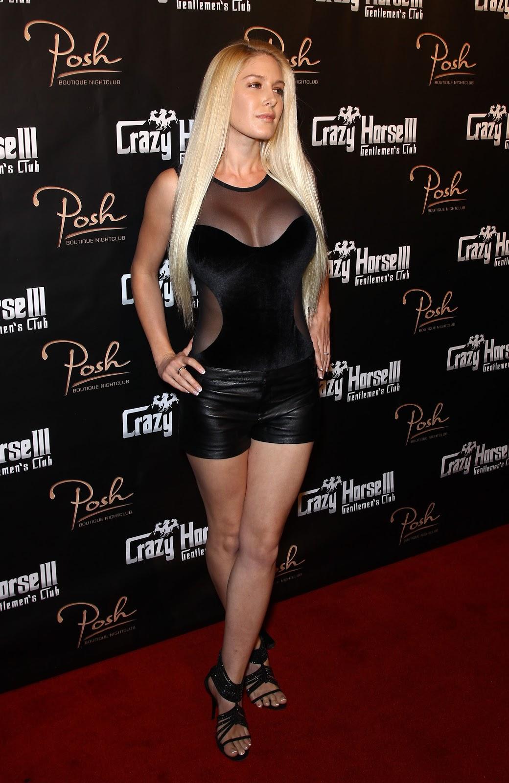 Heidi Montag In Mini Leather Shorts Crazy Horse Iii Third