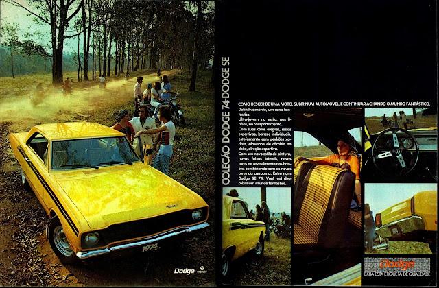 propaganda Chrysler Dodge SE 74 - 1973 - Chrysler Advertising 1973