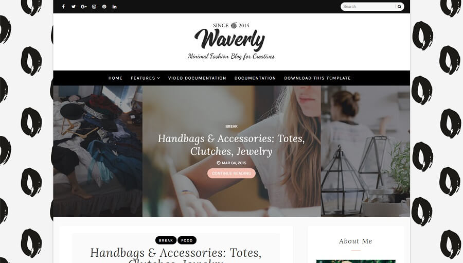 Waverly - Personal Responsive Blogger Template