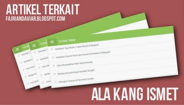 Artikel Terkait Ala Kang Ismet