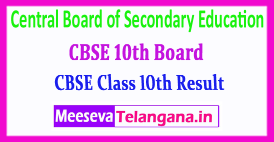 CBSE 10th Results Central Board of Secondary Education 2018 Results