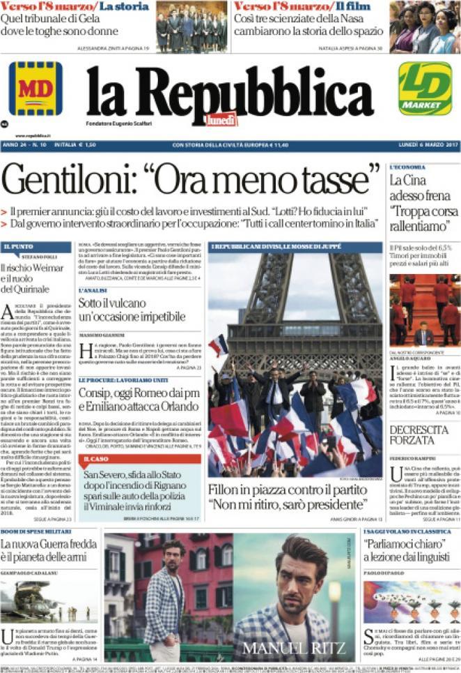 Reportages Quotidiani La Miglior Prima Pagina Di Oggi Lunedì6